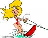 A Woman Water Skiing clipart