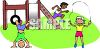Kids Playing at Recess clipart