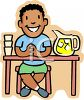 African American Boy Selling Lemonade  clipart