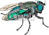 Blue Housefly clipart