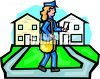 Lady Mail Carrier clipart
