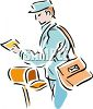 Mail Carrier Collecting Outgoing Mail clipart