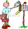 Teenage Boy Getting the Mail clipart
