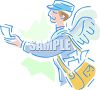 Mail Carrier with Wings clipart
