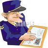 Mail Carrier Delivering a Parcel clipart
