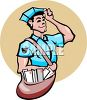 Postman Delivering the Mail clipart