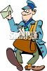 Cartoon Mail Carrier clipart