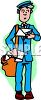 Confused Mail Carrier clipart