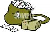 Mail Bag Full of Letters clipart