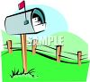 Letters Going Out in a Country Mailbox clipart