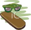 Pair of Glasses and Case clipart