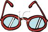 Pair of Cartoon Glasses clipart