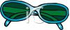 Pair of Blue Sunglasses clipart