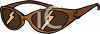 Pair of Brown Glasses clipart