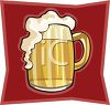 Mug of Frothy Beer clipart