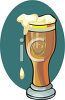 Pilsner Glass of Beer clipart