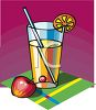 Glass of Apple Juice with a Straw clipart