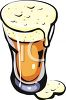 Overflowing Glass of Beer clipart