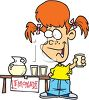 Red Haired Girl Selling Lemonade clipart