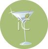 Shining Martini Glass with an Olive clipart
