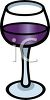 Wine in a Glass Icon clipart
