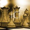 Antique Chess Game clipart