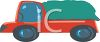 Tarp Covered Flatbed Truck clipart