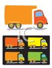 Cartoon Delivery Trucks clipart
