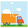 Delivery Van on a Summer Day clipart
