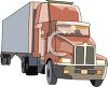 Cartoon Drawing of a Semi Truck clipart