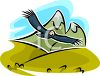 Hawk Flying Over the Desert clipart