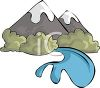 Mountains and a River clipart