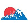 Mountain Sunset Icon clipart