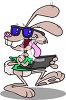 Easter Bunny Using a Laptop clipart