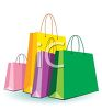 Different Colored Shopping Bags clipart