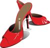 Slide In Red Ladies Shoes clipart