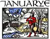 Old English Zodiac Calendar for Januarye clipart
