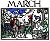 Old English Zodiac Calendar for March clipart