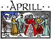 Old English Zodiac Calendar for Aprill clipart