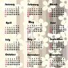 Pink and Gray Floral 2010 Yearly Calendar clipart