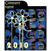 Blue and Black 2010 Yearly Calendar clipart