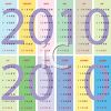 Pastel Blocks of Color 2010 Yearly Calendar clipart