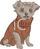 Yorkie Puppy Wearing a Sweater clipart