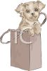 Puppy in a Bag clipart