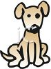 Cute Little Brown Dog clipart