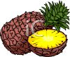 Realistic Cut Pineapple clipart