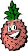 Pineapple Character with a Big Smile clipart