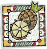 Pineapple Mosaic Tile clipart