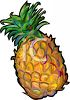 Comic Style Pineapple clipart