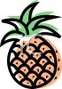 Cartoonish Pineapple clipart